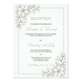Dekorative Hochzeits-Empfangs-Einladung 14 X 19,5 Cm Einladungskarte