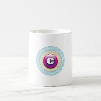 Dekorative Initiale C Kaffee Tasse