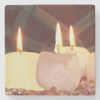 Ornamental Candles Custom Holiday Drink Coasters