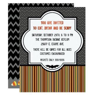 Dekorative Muster-Halloween-Einladung Karte