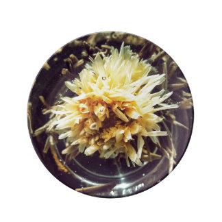 Dekorative Porzellanplatte des blühenden Tees Porzellanteller