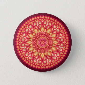 Dekorative runde Stammes- ethnische Verzierung Runder Button 5,7 Cm