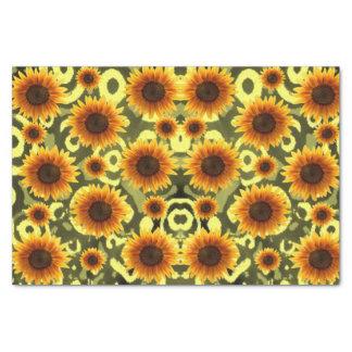 Dekorative Seidenpapiersonnenblumen Seidenpapier