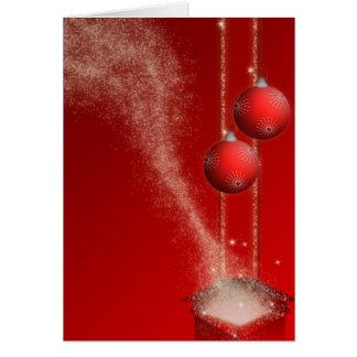 Dekorative Weihnachts Grusskarte Karte