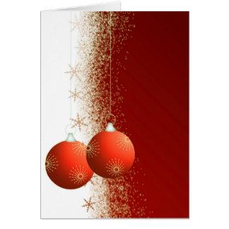 Dekorative Weihnachtsgrusskarte Karte