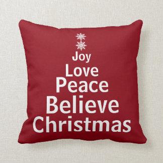Dekorativer Feiertags-Weihnachtswort-Baum Kissen