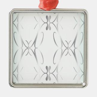Dekorativer Hintergrund Quadratisches Silberfarbenes Ornament