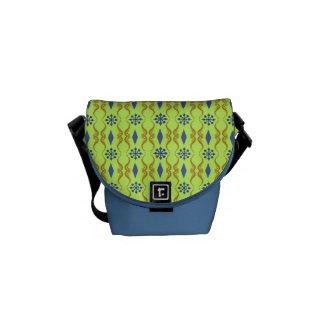 Dekorativer Indien-Streifen Kurier Tasche