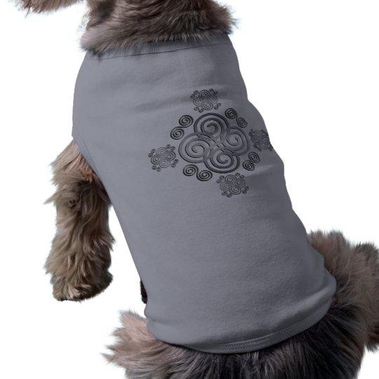 Dekorativer keltischer Entwurf Ärmelfreies Hunde-Shirt