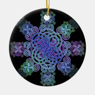 Dekorativer keltischer Entwurf Keramik Ornament