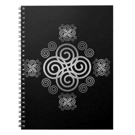 Dekorativer keltischer Entwurf Notizblock