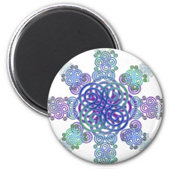 Dekorativer keltischer Entwurf Runder Magnet 5,7 Cm