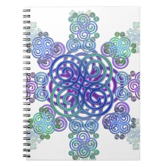 Dekorativer keltischer Entwurf Spiral Notizblock