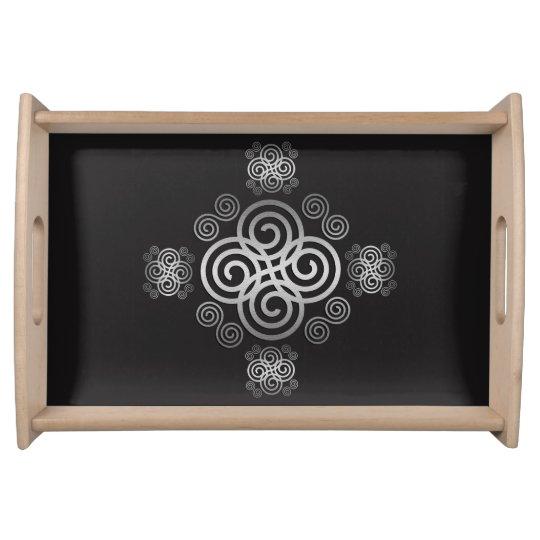 Dekorativer keltischer Entwurf Tabletts