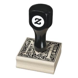 Dekorativer Monogramm-Buchstabe M Gummistempel
