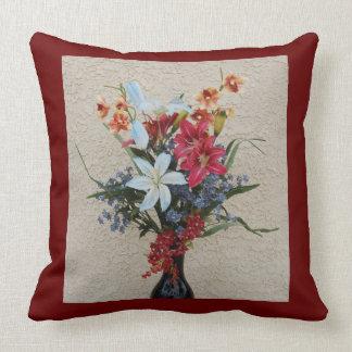Dekorativer Vase und Blumen-Kissen Kissen