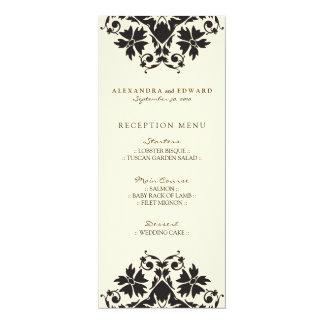 Dekoratives Briefmarken-Hochzeits-Empfangs-Menü 10,2 X 23,5 Cm Einladungskarte