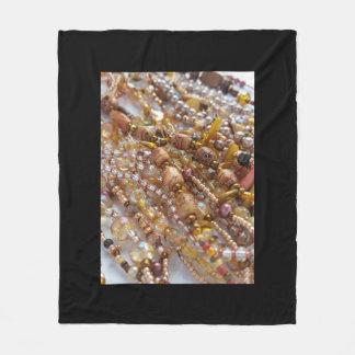 Dekoratives Fleece-Decken-Schwarzes mit Fleecedecke
