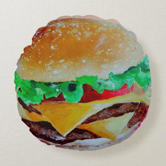Dekoratives Kissen des Spaßes, Hamburger-Popkunst