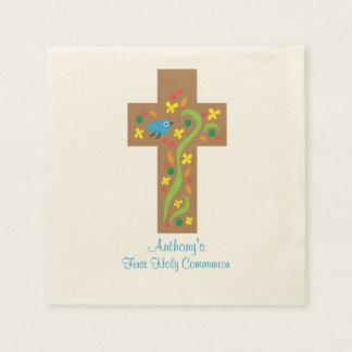 Dekoratives Kreuz Browns mit Papierservietten