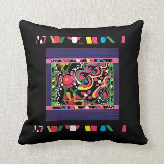 Dekoratives Mehrfarben- und schwarzes Wurfs-Kissen Kissen
