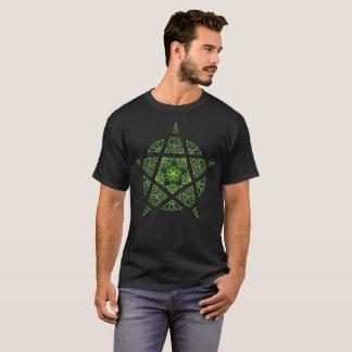 Dekoratives Pentagrammgrün T-Shirt