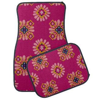 Dekoratives pinkfarbenes marokkanisches Set von 4 Automatte