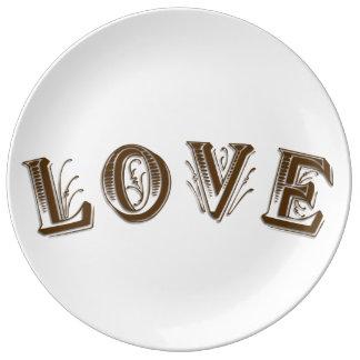 Dekoratives Porzellan-Platte  Teller
