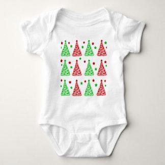 Dekoratives Weihnachtsbaummuster - Weiß Baby Strampler