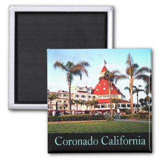 Del Coronado Hotel, Foto-Magnet Quadratischer Magnet