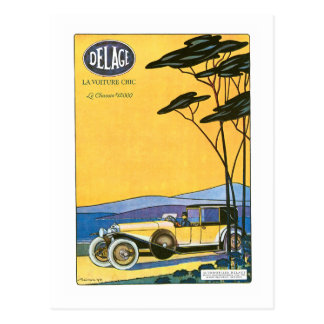 Delage ~ Vintage Automobil-Anzeige Postkarte