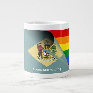 Delaware-Flaggen-Gay Pride-Regenbogen Jumbo-Tasse