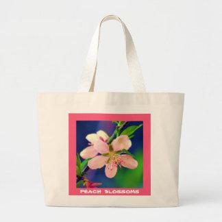 Delaware-Pfirsich-Blüten Jumbo Stoffbeutel