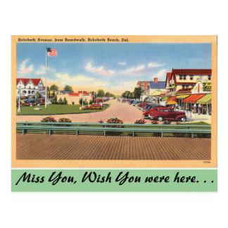 Delaware, Rehoboth Allee Postkarte