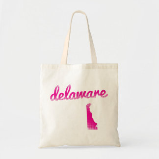 Delaware-Staat im Rosa Tragetasche