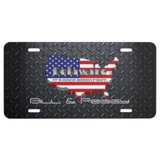 Delaware-Staats-Monogramm-Lizenz-Platte US Nummernschild