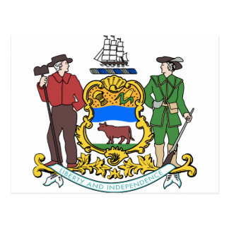 Delaware-Wappen Postkarte