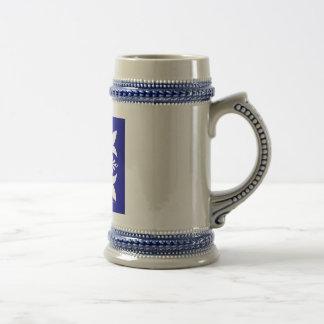 """""""Delphi"""" blauer Stein Bierkrug"""