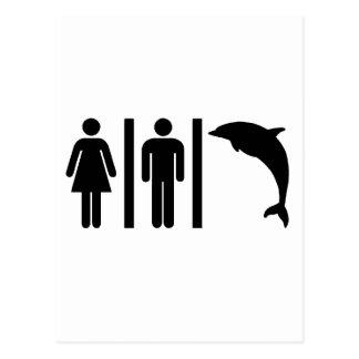Delphin-Badezimmer Postkarte