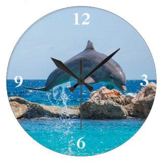 Delphin Große Wanduhr