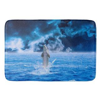 Delphin-Ozean-Sturm Badematte