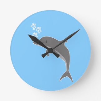 Delphin Runde Wanduhr