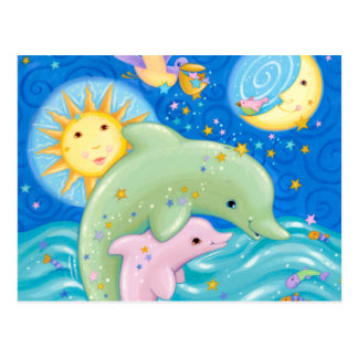 Delphin-Spiel Postkarte