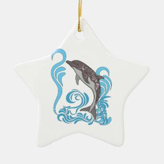 Delphin-Spritzen Keramik Stern-Ornament