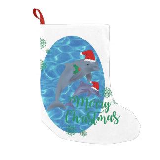 Delphin-Strumpf froher Weihnachten Weihnachtsmanns Kleiner Weihnachtsstrumpf