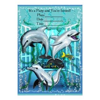 Delphine im Raum 12,7 X 17,8 Cm Einladungskarte