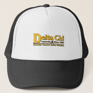 Deltachi-Namen-und Logo-Gold Truckerkappe