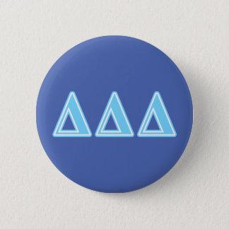 Deltadeltadeltablau-Buchstaben Runder Button 5,7 Cm