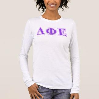 Deltaphi-Lila und Lavendel-Epsilonbuchstaben Langarm T-Shirt