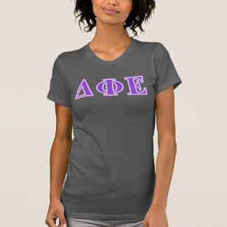 Deltaphi-Lila und Lavendel-Epsilonbuchstaben T-Shirt